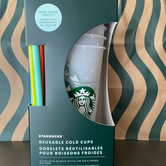Starbucks-Color Changing -Confetti-5 Pack